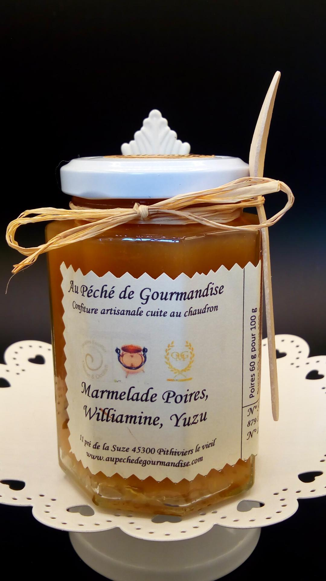 Marmelade poires williamine yuzu